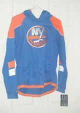 New York Islanders NHL Reebok Royal Blue Kids Lg 14 -16 Hoodie Long Sleeve New