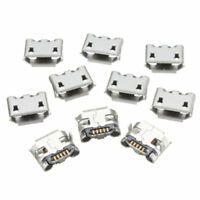 10PCS Micro USB Type B Female 5 Pin Legs PCB SMD DIP Soldering Socket Connectors
