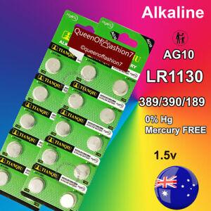 20 x LR1130 Battery AG10/189 QueenOf7 1.5V Blister Alkaline Batteries EXP2024