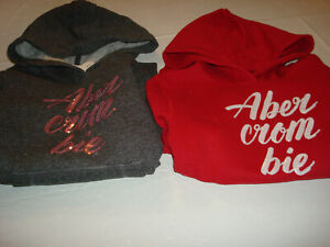 Girl Abercrombie Kids With Sequins Logo Popover Hoodie NWT
