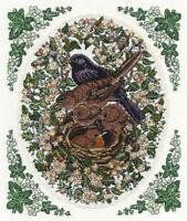 DMC Cross Stitch Kit - Countryside - Blackbirds