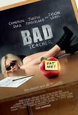 BAD TEACHER Movie POSTER 27x40 Cameron Diaz Lucy Punch Jason Segel Justin