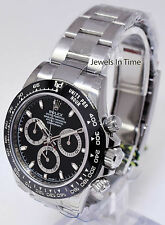 Rolex Daytona 116500 Mens Steel Black Ceramic Bezel White Panda Dial 40mm