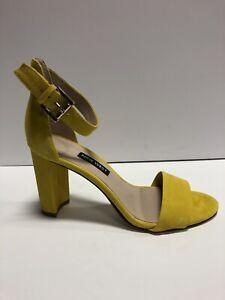 Nine West Women's Nora, Slingback High Heels-Yellow, Size 6M.