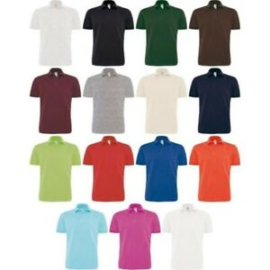 Hommes B&c Heavymill 100% Coton Manches Courtes Col Polo
