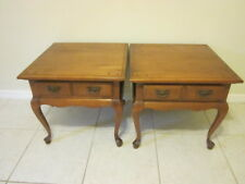 Colonial Maple end tables  wood  by Sprague s Carleton   Shipping not included