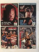 Lot of 4 WWF Magazine 1998 May June July Aug Undertaker Stone Chyna Dx Sable WWE