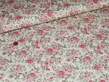 Rose & Hubble Creme Rosen Popeline 25x110cm Baumwolle Meterware Patchwork