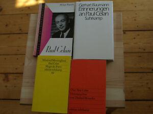 Paul Celan - Sekundärliteratur - 4 Bücher - sehr guter Zustand!