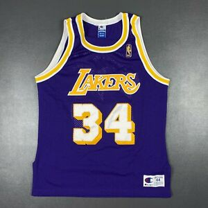 100% Authentic Shaquille O'Neal Vintage Champion Lakers Jersey Size 44 M L Mens