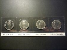 Lot of 4 Canada nickel 50c errors, all strike-through errors