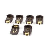 6 Stueck Braun Kunststoffgehaeuse CR2032 Knopfzelle Batterie Socket Halter D0P4