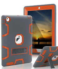 Shockproof Heavy Duty With Kickstand Rubber Case Cover For iPad Mini Air 1/2 Pro
