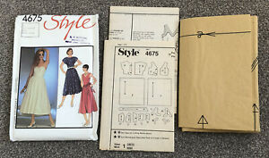 Vintage 80s Style 4675 Fit And Flare Dress Pattern Uncut 8 10 12