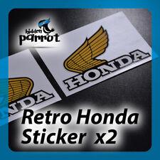 2x Laminated Retro Honda Wings Decals Stickers Motorbike Motorcycle 120mm