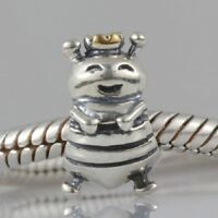 QUEEN BEE BUMBLE Genuine 925 sterling silver charm bead fits European bracelet
