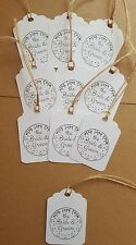 Gift Tags ideal for weddings ( with love from the bride and groom) x 10