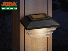 JODA 2er Set Topline Solarleuchte klein Akku Solarlampe Garten Hauslampe schwarz