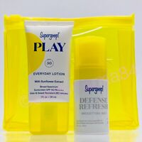 NEW ~ SUPERGOOP Play Everyday Lotion + Defense Refresh Mist ~ Travel EXP 1/22