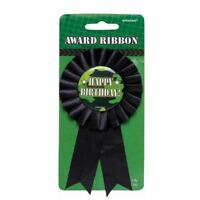 Army Camouflage Award Ribbon Happy Birthday Party Favour Prize Badge