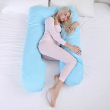 Pregnancy Pillow Maternity Belly Contoured Body U Shape Extra Pregnant Blue