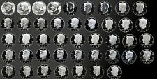 FULL COMPLETE SET OF PROOF KENNEDY HALFS 1964-2007 43 -- GEM PROOF/SMS COINS!