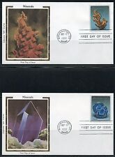 UNITED STATES COLORANO 1992 MINERALS  SET OF FIVE  FIRST DAY COVERS