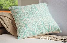 Aqua Aztec Cushion Cover Throw Pillow Case Home Decor 100% Cotton 45cm Kibui