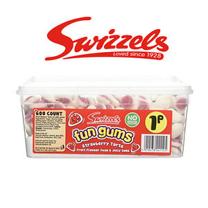 SWIZZELS FUN GUMS SOFT STRAWBERRY TARTS WEDDING FAVOURS SWEETS CANDY CART TABLE