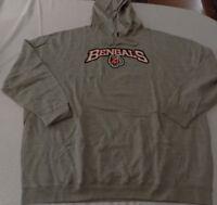 Cincinnati Bengals Pullover Hoodie 5XL Cool Logos Gray Majestic NFL