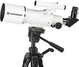 Bresser Classic 70/350 Refractor Travel Telescope + Tripod  &  Smartphone Holder