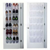 Over Door Shoe Rack Organizer Hanging Boot Storage Pocket Hanger Caddy Large