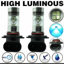 2Pcs 9005 HB3 8000K Ice Blue 100W LED Samsung 2323 H10 Fog Driving Light Bulbs
