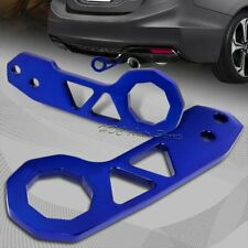 "2"" JDM Blue Rear Anodized Billet Aluminum Racing Towing Hook Tow Kit Universal"