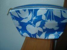 ESTEE LAUDER Cosmetic Bag Makeup Case ~ Blue & White Floral ~ New