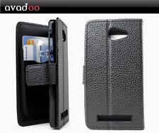 avadoo® Archos 45c Helium Flip Case Cover Tasche Schwarz Hülle Magnet