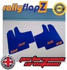 RallyflapZ Peugeot 206 Rally Style Garde-boues & fixations Logo Bleu Orange 4 mm PVC