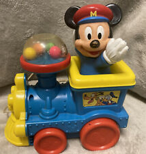 New listing Vintage Disney Mickey Mouse Poppin' Sounds Train Pull Toy