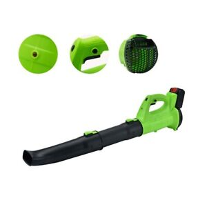 Cordless Air Leaf Blower Vacuum Clean Battery Powered For Dust Blowing Lawn Care