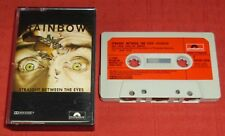 RAINBOW - UK CASSETTE TAPE - STRAIGHT BETWEEN THE EYES - PAPER LABELS