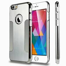 Luxury Aluminum  Metal Brushed Chrome Back Case Cover  for iPhone6 /s /6plus