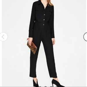 BNWT Boden Zada Black Straight Leg Smart Evening Occasion Jumpsuit Size 10R NEW