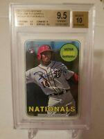 2018 Topps Heritage Real One Autograph Victor Robles RC BGS 9.5/10 Auto #ROAVR