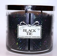 Bath & Body Works New BLACK TIE 3-Wick Filled Candle 14.5 oz