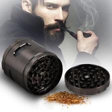 4 Piece 55mm Zinc Alloy Hand Crank Herb Mill Crusher Tobacco Smoke Grinder Gun
