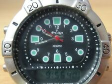 PRESTIGE WATCH WATER 50 M RESIST QUARTZ  ANALOG & DIGITAL 24 JAPAN MOVMENT
