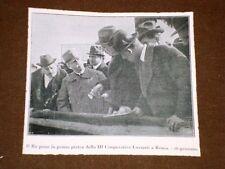 Roma 26 gennaio 1920 Re Vitt.Emanuele III prima pietra della III Coop. Luzzatti