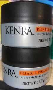 2 Pack KENRA Pliable Pomade 15 Matte Defining Putty 2oz Matte Defining Putty