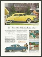 1949 STUDEBAKER Land Cruiser & Champion Starlight - Vintage Automotive Print Ad
