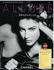 Publicité Advertising 2006 Parfum Allure sensuelle par Chanel